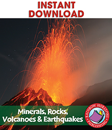 Minerals, Rocks, Volcanoes & Earthquakes Gr. 4-7 - eBook