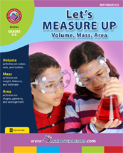 Let's Measure Up: Volume, Mass, Area Gr. 4-6 - print book