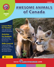 Awesome Animals of Canada Gr. 2-3 - print book