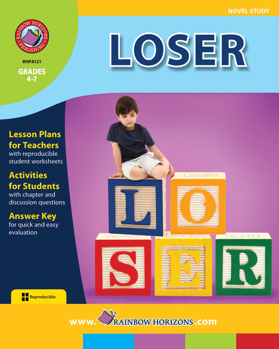 loser  novel study  gr 4 7 print book Novel Outline go home musica novela