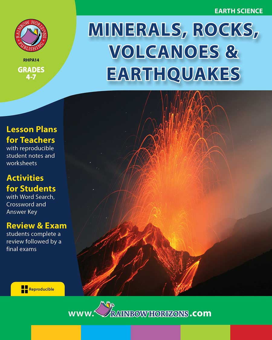 Minerals, Rocks, Volcanoes & Earthquakes Gr. 4-7 - print book