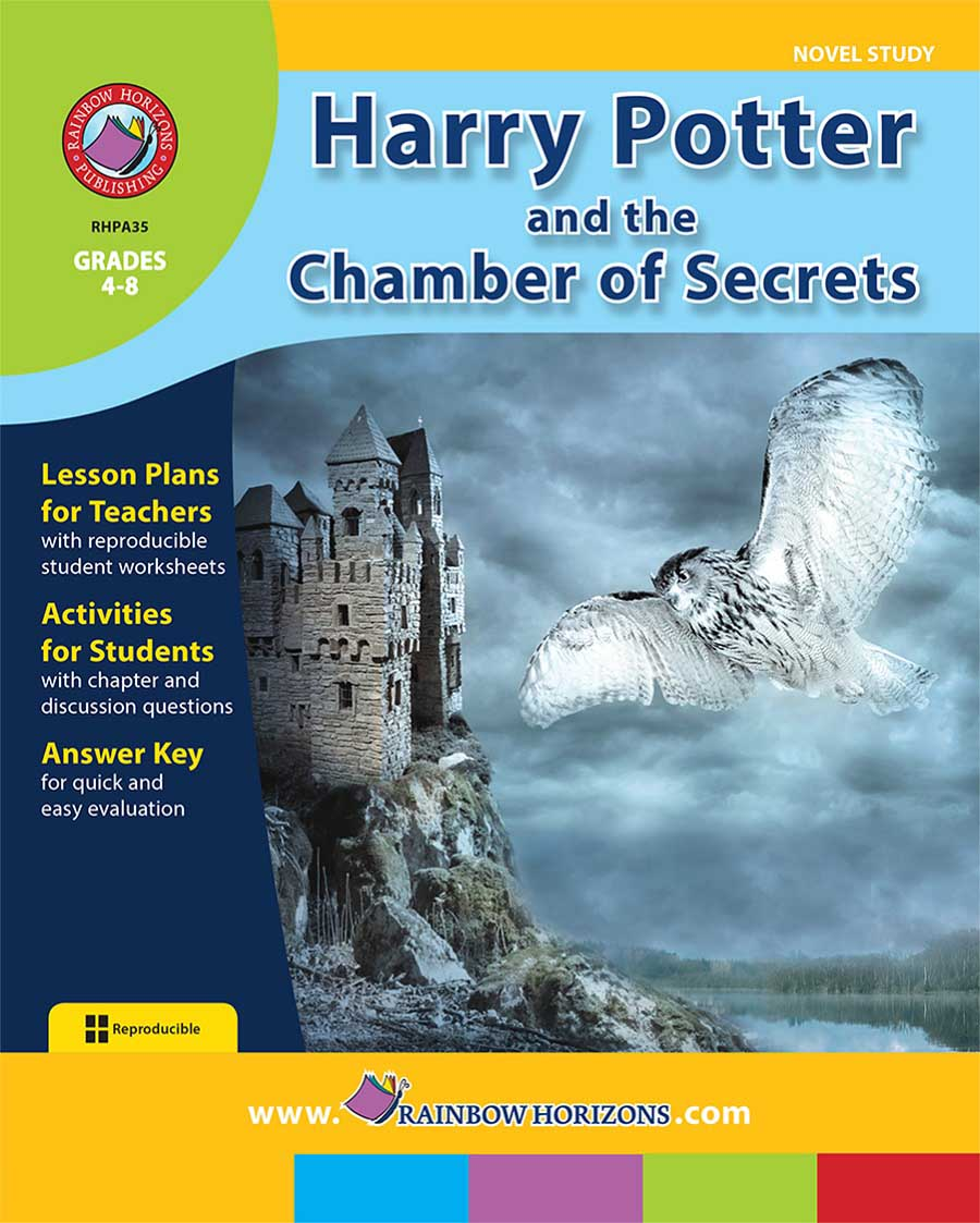 Harry Potter Book Cover Analysis : Harry potter and the chamber of secrets novel study