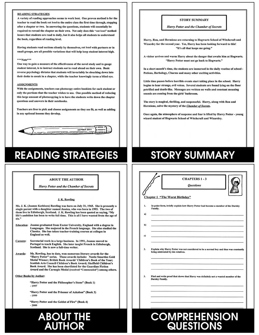 Harry potter and the chamber of secrets novel study grades 4 to harry potter and the chamber of secrets novel study gr 4 8 fandeluxe Gallery