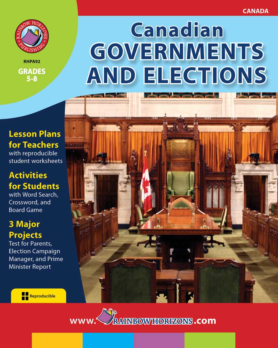 Canadian Governments and Elections Gr. 5-8 - print book