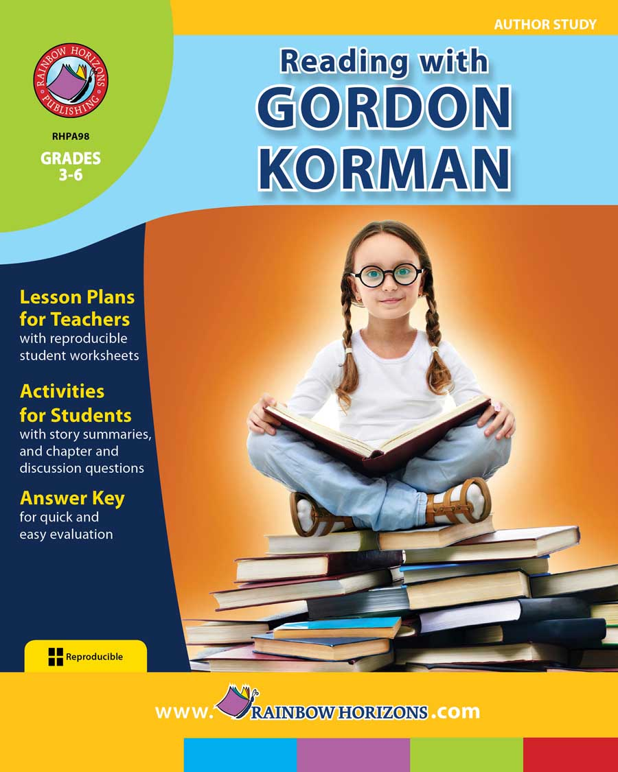 Reading with Gordon Korman (Author Study) Gr. 3-6 - print book