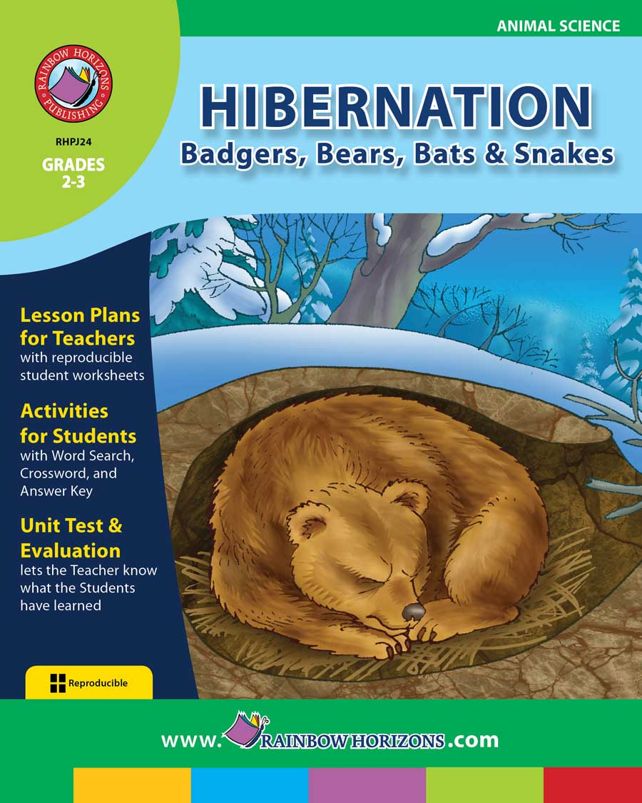 Hibernation Badgers Bears Bats Snakes