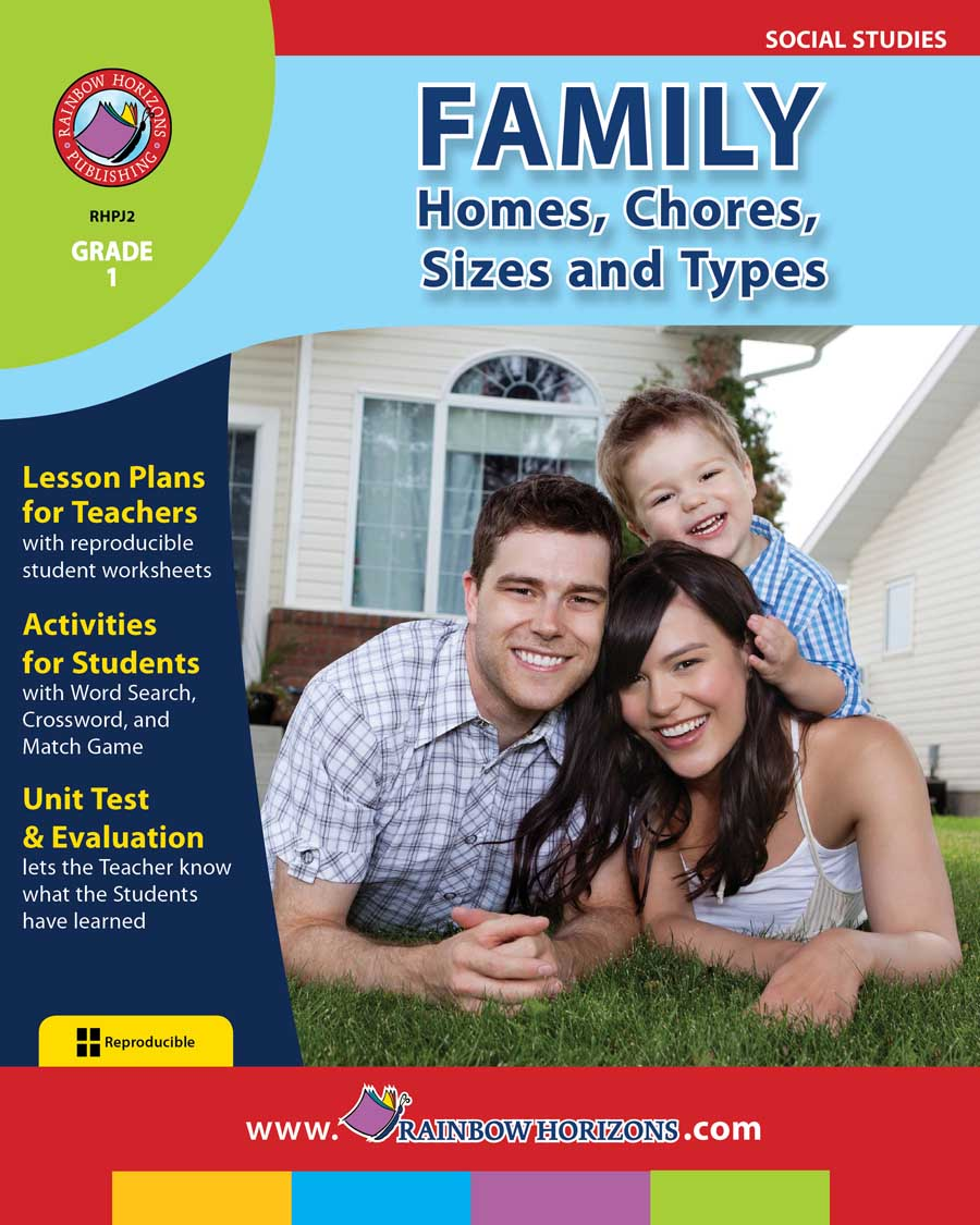 Family: Homes, Chores, Sizes & Types Gr. 1 - print book