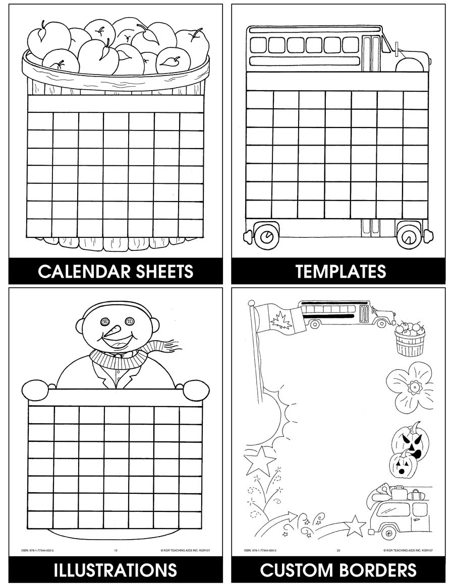 CREATIVE CALENDARS Gr. K-1 - eBook
