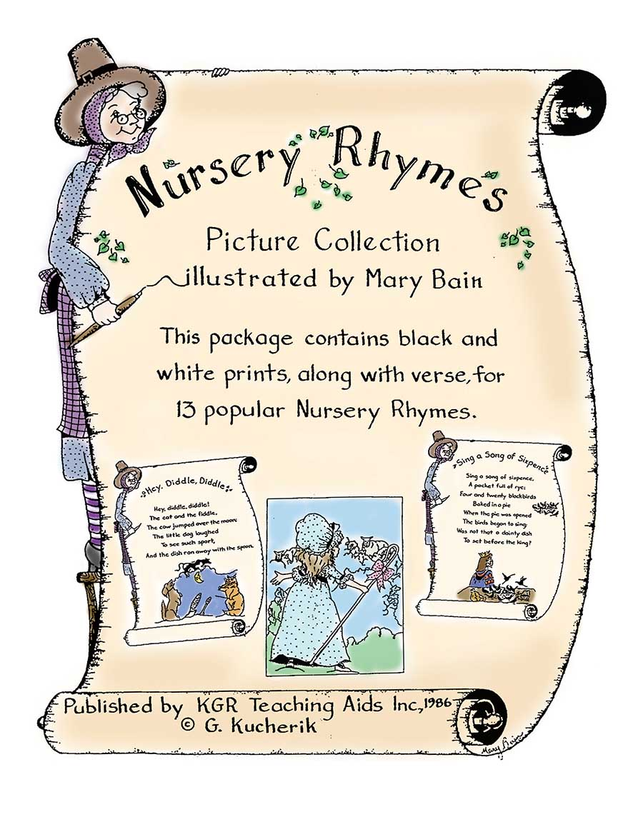 NURSERY RHYMES (PICTURES & VERSES) Gr. K-4 - eBook