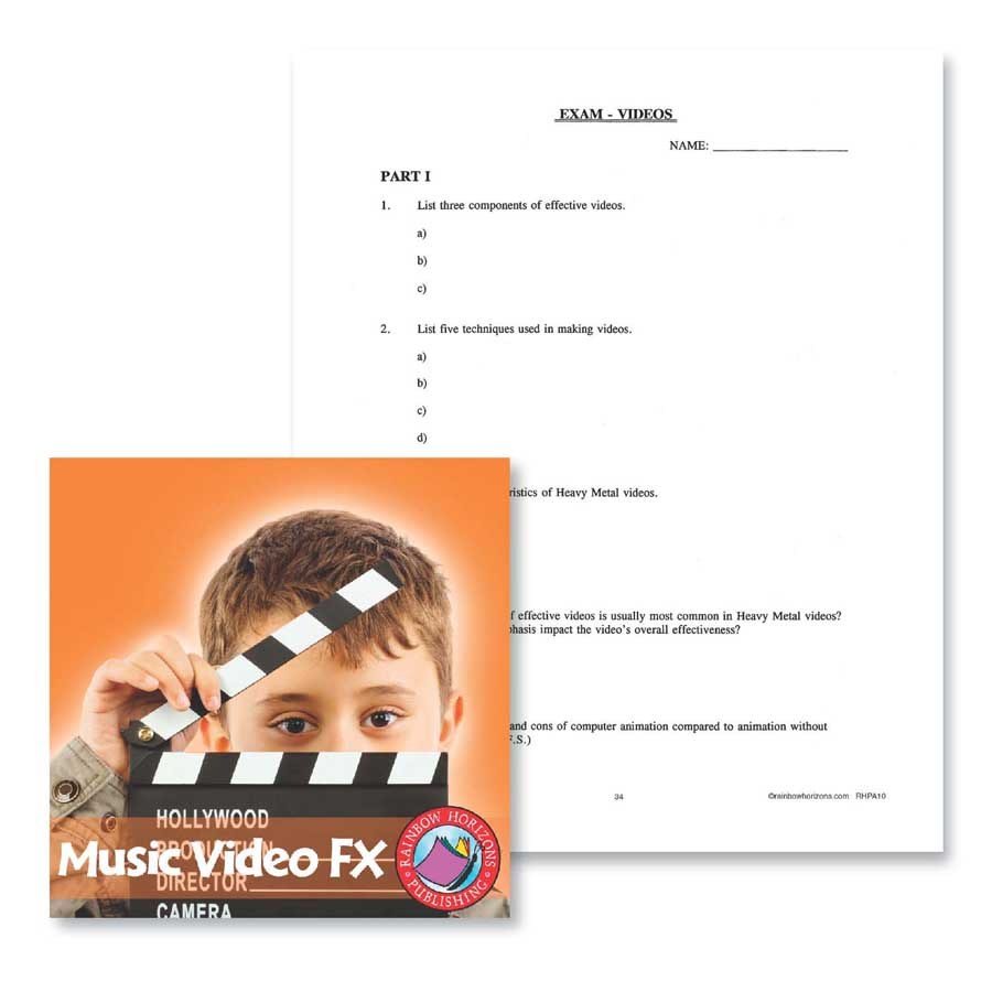 Music Video FX: Exam Gr. 6-8 - WORKSHEET - eBook