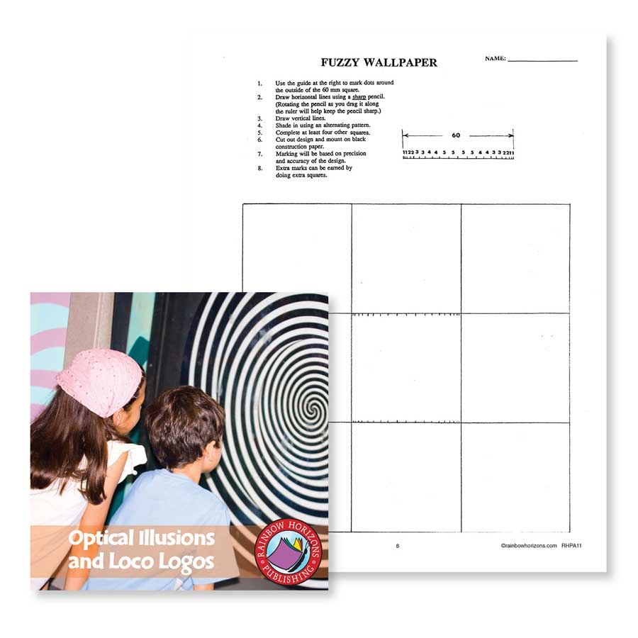 Optical Illusions and Loco Logos: Fuzzy Wallpaper Gr. 6-8 - WORKSHEET - eBook