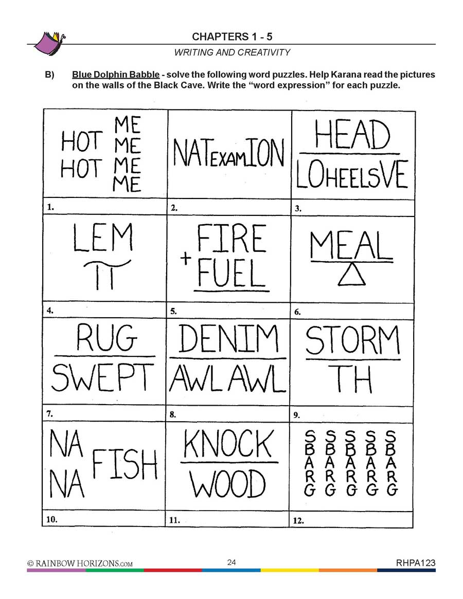 Island of the Blue Dolphins (Novel Study): Word Puzzles Gr. 5-6 - WORKSHEET - eBook