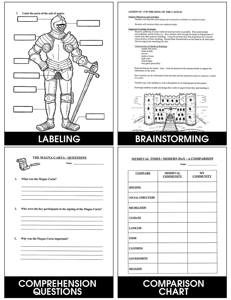 Medieval Times Grades 4 To 6 Ebook Lesson Plan Rainbow Horizons