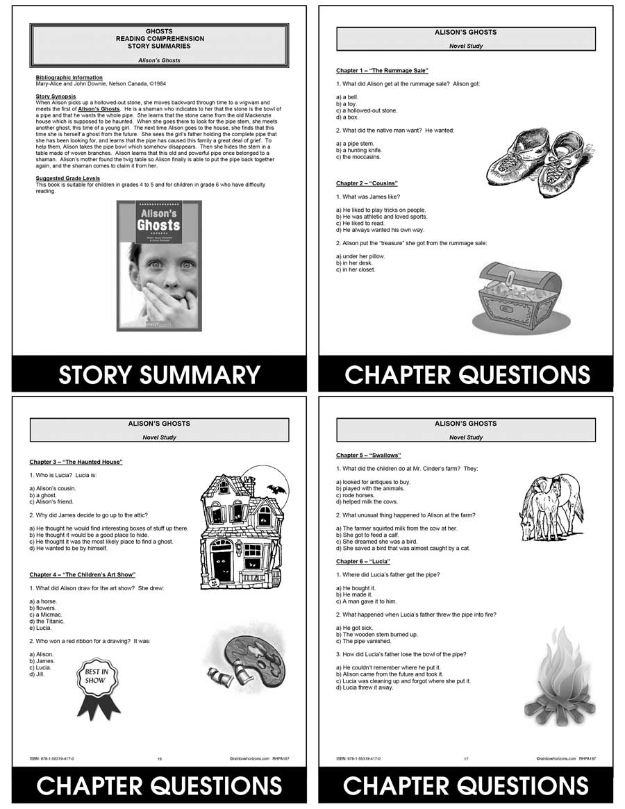 Ghosts: Reading Comprehension (Novel Study) Gr. 3-7 - CHAPTER SLICE - eBook