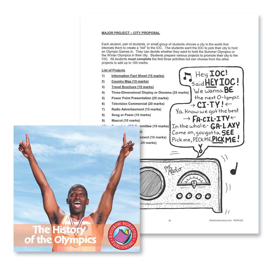 The History of the Olympics: Major Project Outline Gr. 4-6 - WORKSHEET - eBook