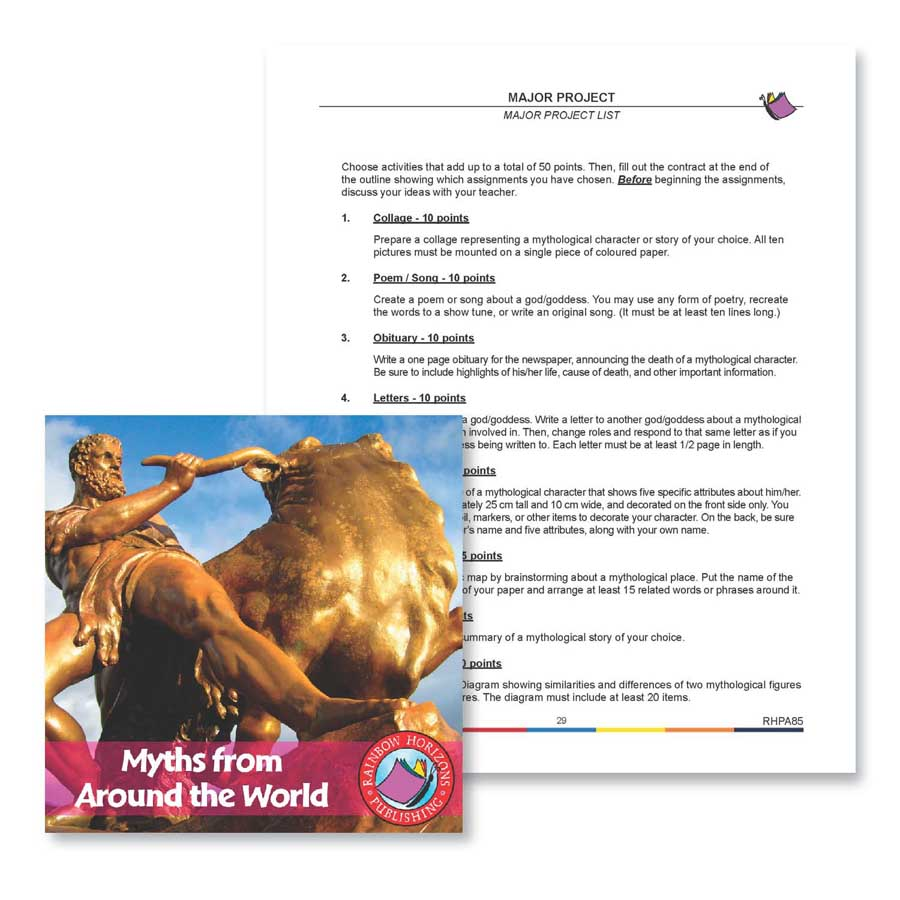 Myths from Around the World: Major Project Outline Gr. 4-6 - WORKSHEET - eBook