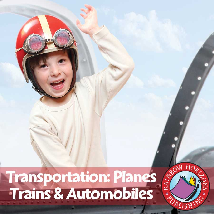 Transportation: Planes, Trains & Automobiles Gr. 1 - eBook