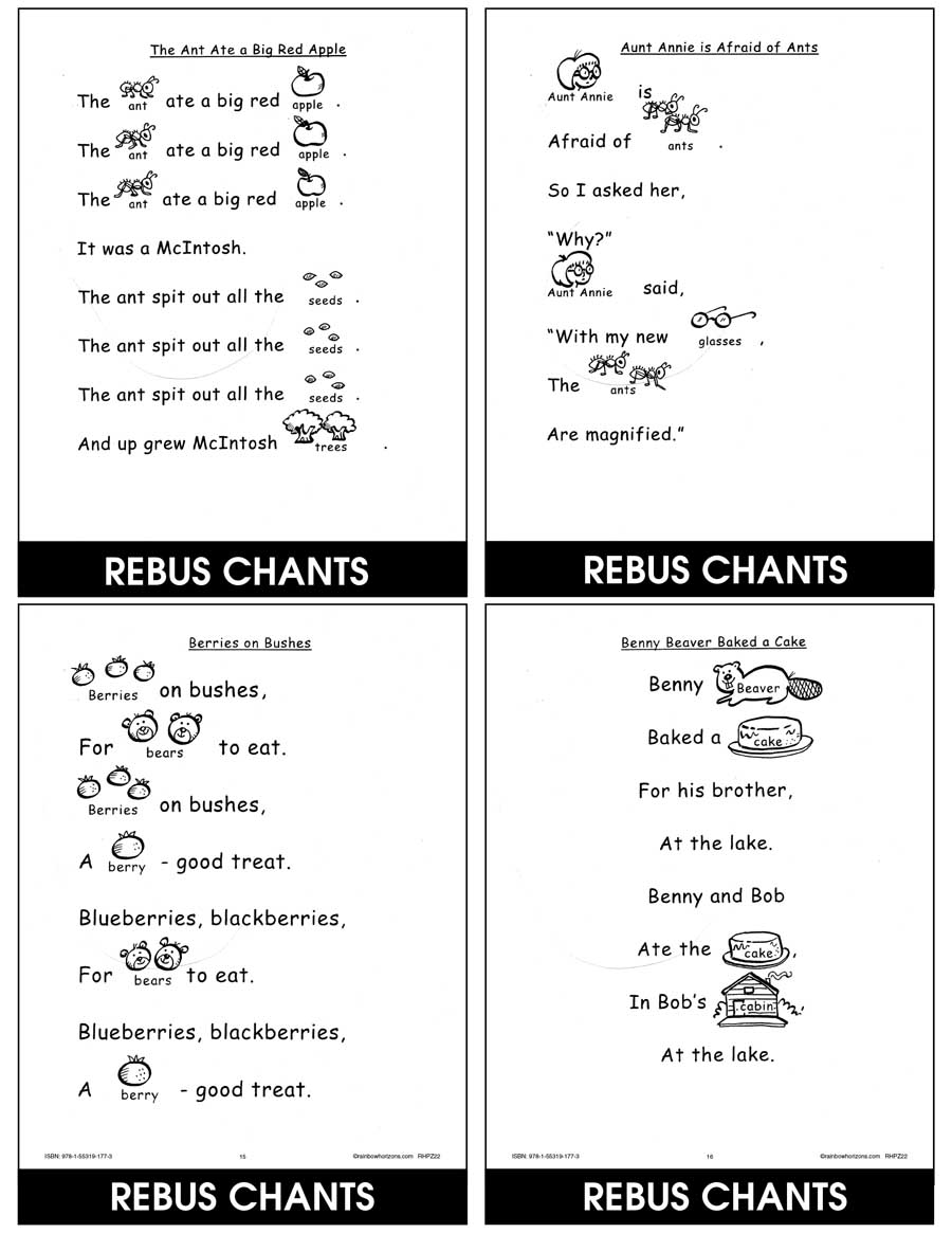 Rebus Chants A to Z Gr. K-1 - CHAPTER SLICE - eBook