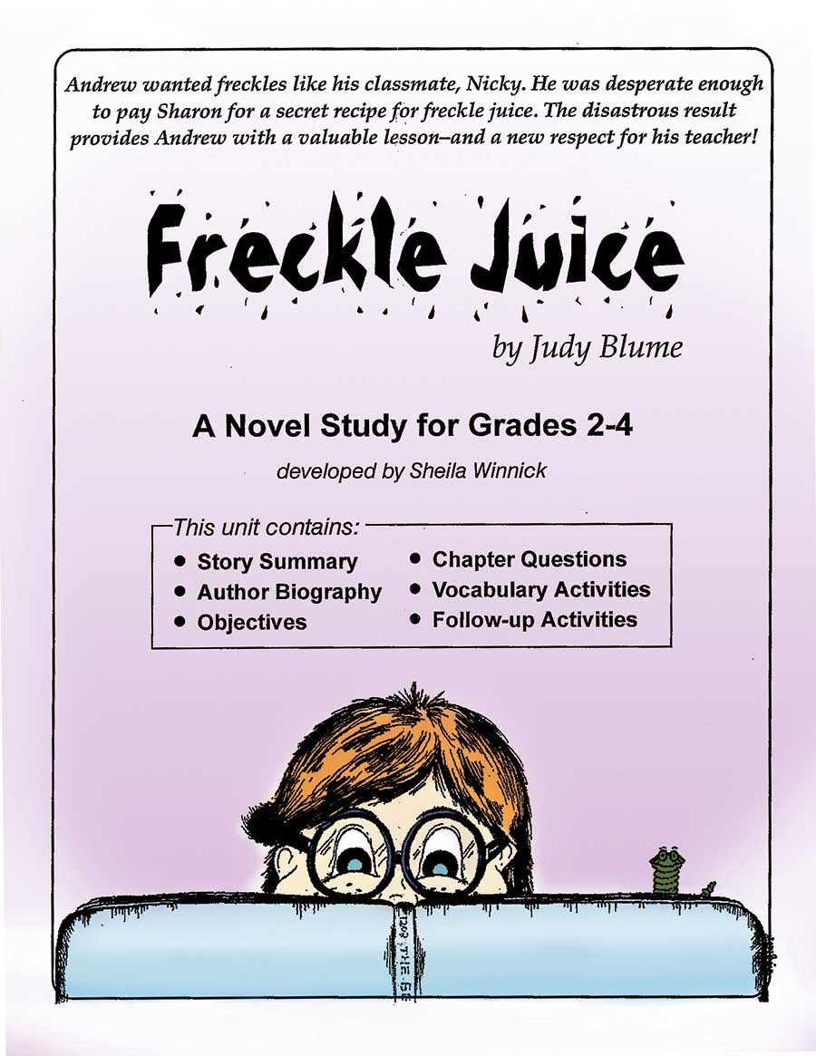 Worksheets Freckle Juice Worksheets novel study guides rainbow horizons publishing ready made lessons freckle juice studygrades 2 3 4price range 7 99view details