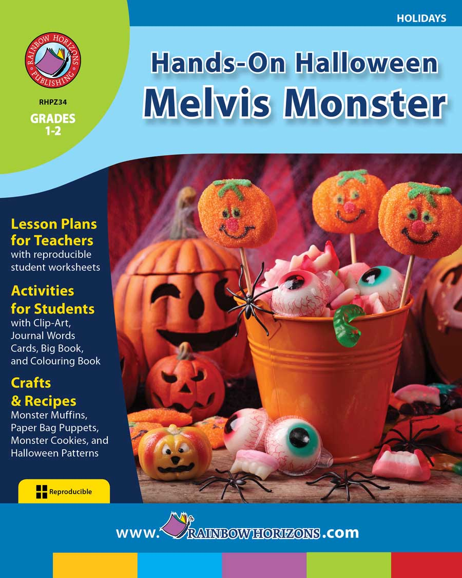Hands-On Halloween: Melvis Monster Gr. 1-2 - print book