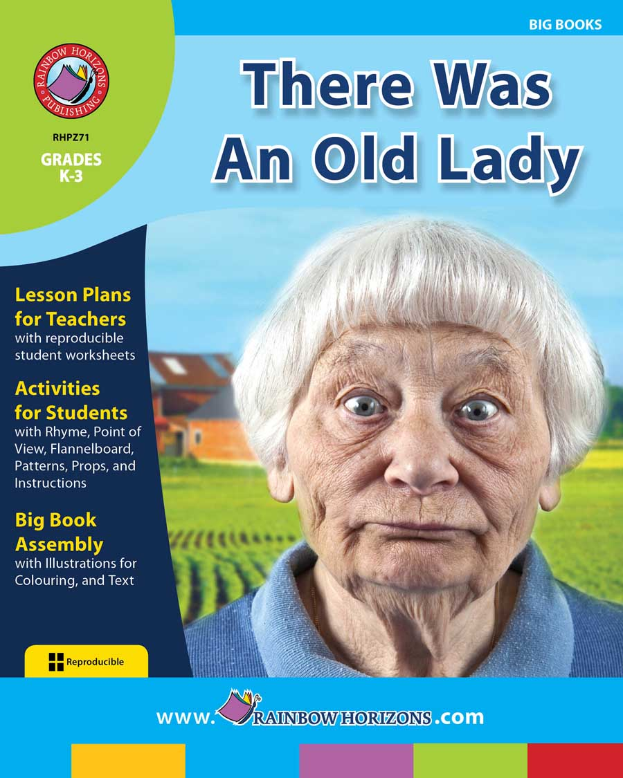 Big Book: There Was An Old Lady Gr. K-3 - print book